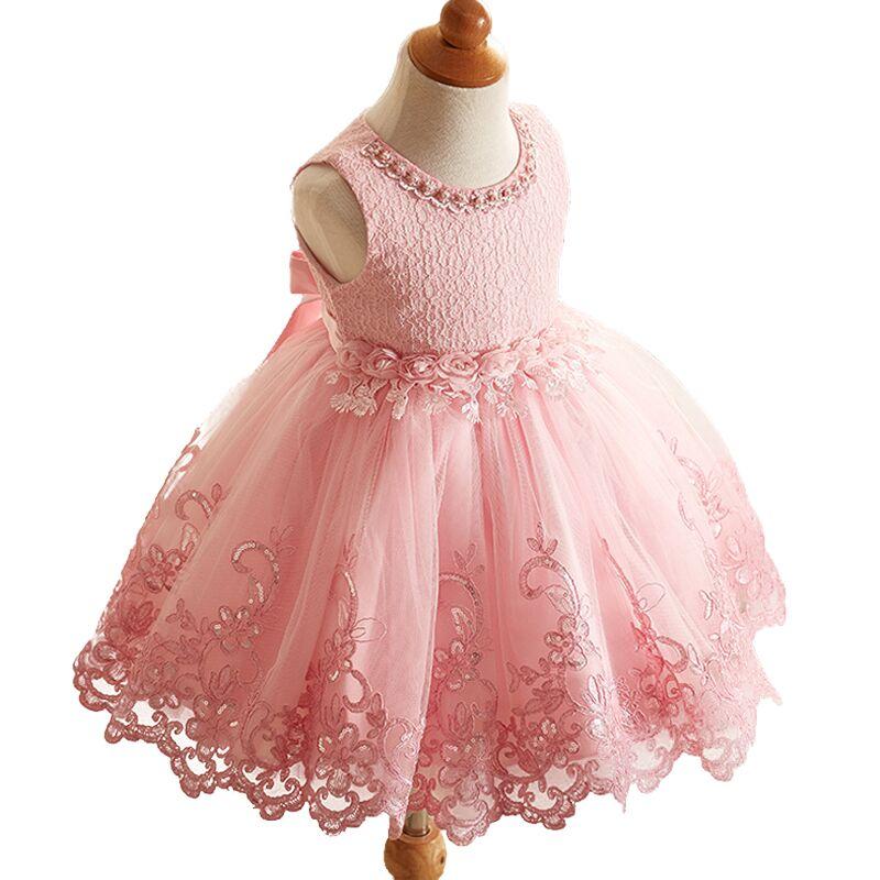 Toddler Girls Baby Girl Princess tutu font b Dress b font Flower Lace Princess Children Bridemaid