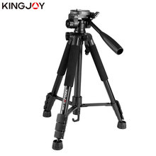 KINGJOY Officia VT-860 Video Tripod Kits Camera Stand Profesional Aluminum Alloy For All Models Flexible Portable Stativ Holder