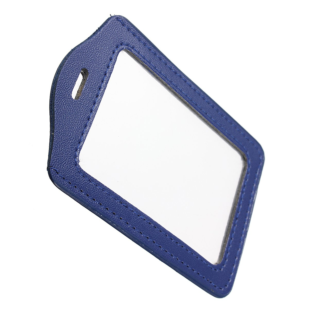 SOSW-Blue PU Badges Holder ID Card Case Credit Card Vertical Badge ...