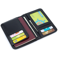 Luxurious Card Holder Sheep Skin Hand Made Knitting Travelling Passport Wallet large Capacity Men Credit Card Wallet Coin Purse