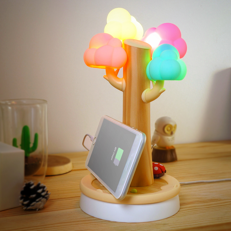 Aliexpress.com : Buy Christmas Gifts Cloud Tree Shape USB Phone Flat Panel  Charging Stand Small Night Light Table Lamp Creative Gifts From Reliable  Small ...