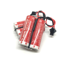 3pcs/lot New Genuine 3.6V 5500MAH Maxell ER17/50 PLC Industrial Control Battery Lithium PLC Batteries Pack with black connector стоимость