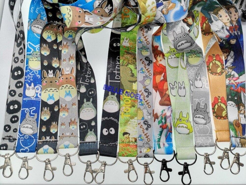 50 stks populaire Japanse anime kat Hals Bandjes Lanyards Mobiele Telefoon, Id kaart, Sleutel Condoleren riem Gemengde-in Sleutelhangers van Sieraden & accessoires op  Groep 1