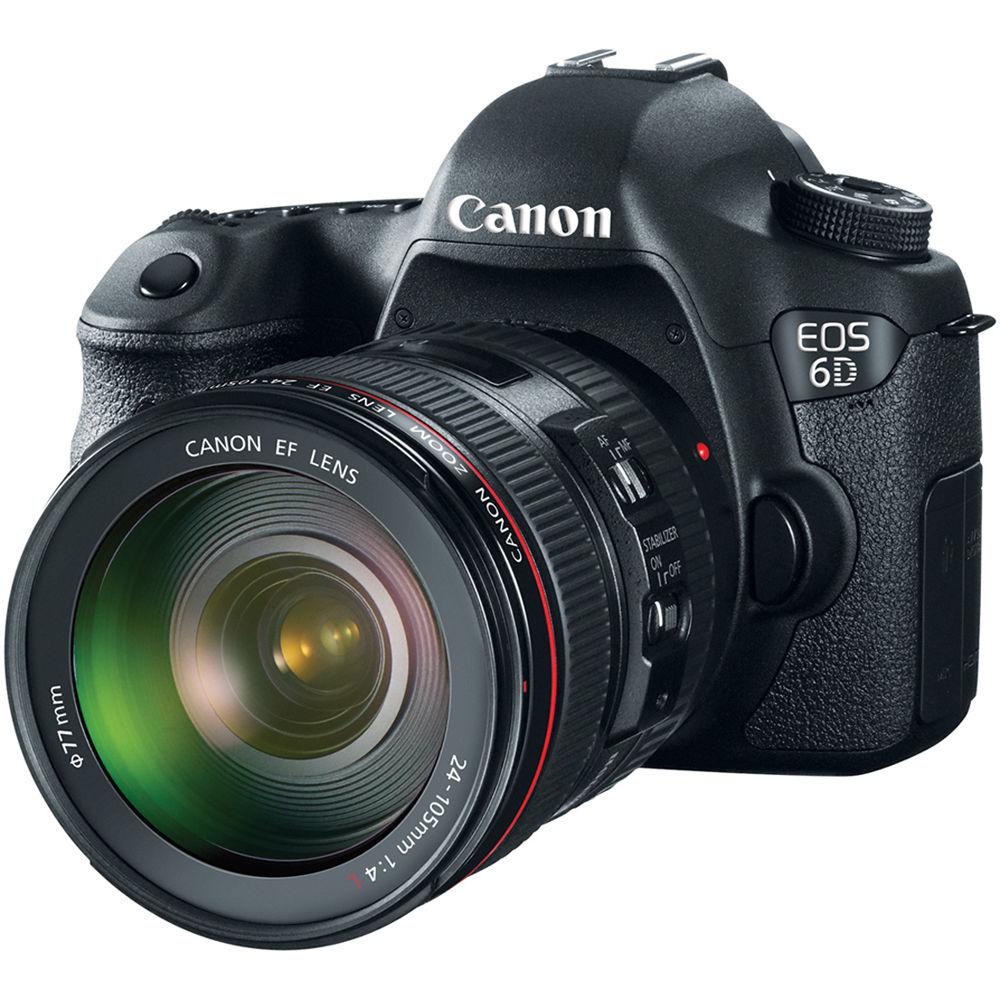 Canon EOS 6D 20.2MP Vollformat DSLR Kamera Körper + EF 24 105mm F4 L ...
