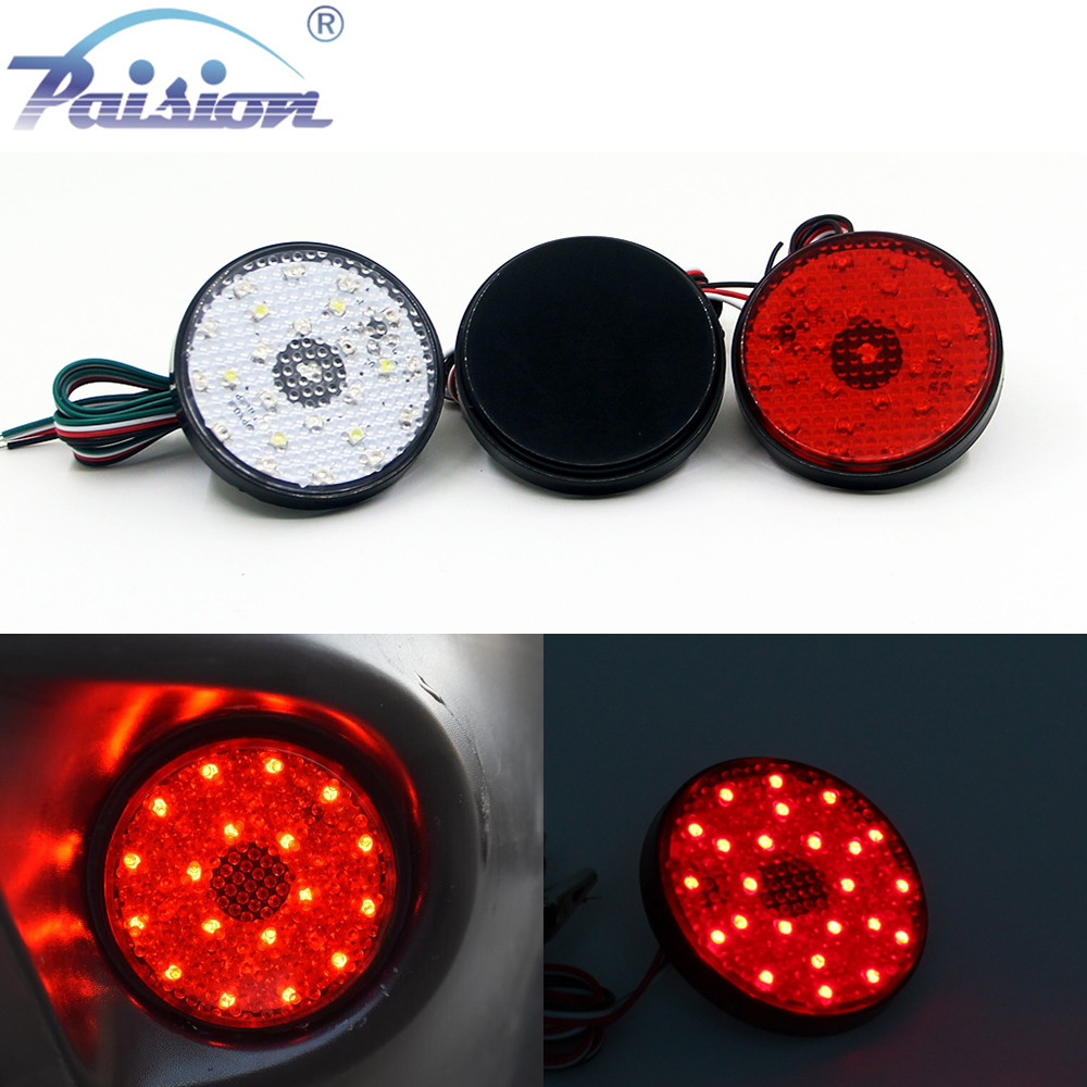 Red Lens LED Rear Bumper Reflector Tail Stop Light for Toyota Sequoia ZRR70 Voxy wire