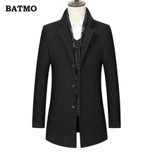 BATMO Новое поступление зимняя высококачественная шерстяная Толстая теплая клетчатая куртка для мужчин, мужские зимние куртки для мужчин, MN8835
