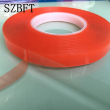 SZBFT 20mm*50M Strong pet Adhesive PET Red Film Clear Double Sided Tape No Trace for Phone LCD Screen free shipping