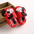 Soft Soled Baby Girls Shoes First Walker Mickey Minnie Cute Bow Red Newborn Baby Girls Mary Jane Shoes Bebe Footwear