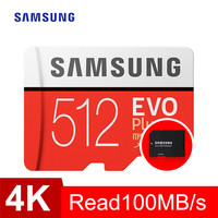 SAMSUNG 100MB/s Memory Card micro sd 512GB EVO Plus Class10 Waterproof TF Memoria Sim Card Trans Mikro Card For Smart Phone