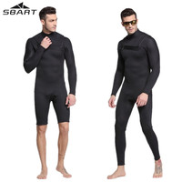 Sbart 3mm Men's Neoprene Scuba Diving Wetsuit One piece Long/Short Sleeve For Men Winter Spearfishing Clothing Surfing Wet Suit