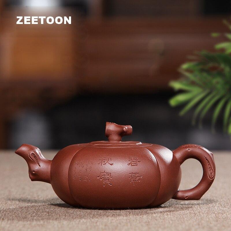 550ml Authentic Yixing Teapot Master Handmade Chinese Health Purple Clay Bionic Pot Creative Vintage Zisha Kettle Chunhua Qiushi|Teaware Sets| |  - title=