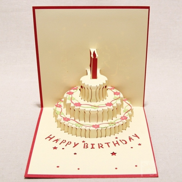 Aliexpress Buy 1pc Handmade post card high end 3D greeting – How to End a Birthday Card