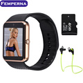 "GT08 Femperna Bluetooth Eletrônica Relógio MTK6261 1.54 ""polegadas TFT HD Tela de Toque 240*240 Dispositivo Wearable Smartwatch Esportes"