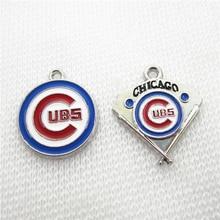 Hot selling 20pcs/lot American Baseball sport cubs Charm Spo