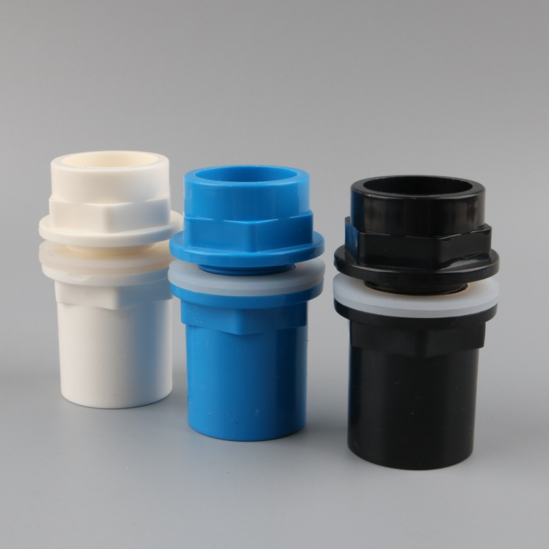 1pc PVC 40mm <font><b>Connector</b></font> Fish <font><b>Tank</b></font> Joint Drain Pipe Accessories Aquarium Drainage System Fittings 1 <font><b>1/4</b></font> inch Thread Joint image
