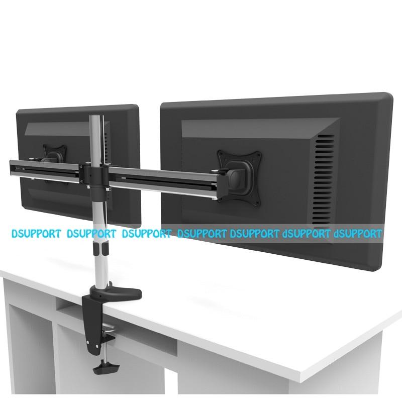 MD3002 Full Motion Rotating Dual Screen LED LCD Monitor Holder Desktop Clamping Grommet Mounting Arm Bracket