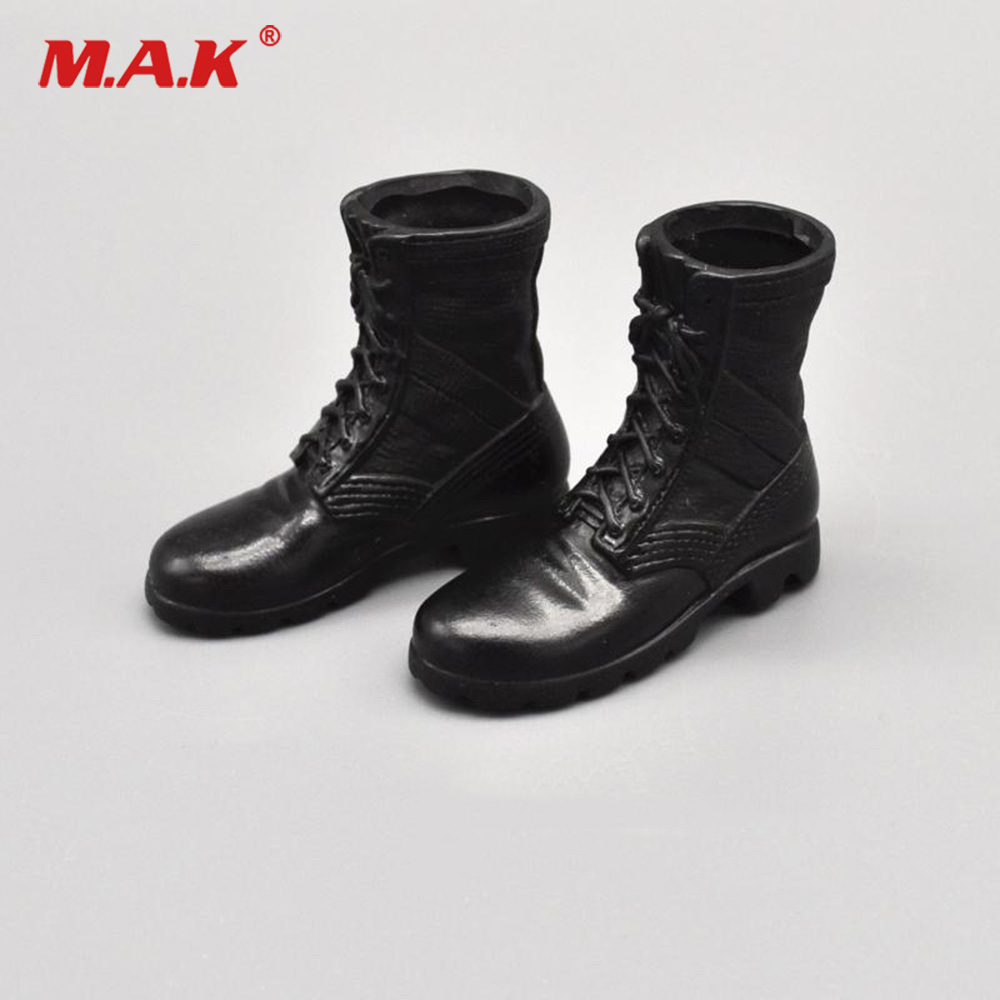 CUSTOM COMBAT BOOTS  LEATHER LACE UP FOR 1//6 SCALE ACTION FIGURES