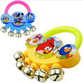 Cartoon baby rattle fingers stainless steel bell infant toys Premiums Gifts SZJUYI