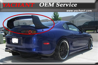 Car-Styling Accessories Full Carbon Fiber Rear Spoiler 3Pcs Fit For 1993-1998 Supra MKIV JZ80 TD Style Rear Trunk Spoiler Wing