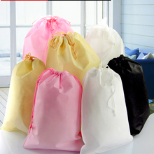 50pcs/lot 25cm*35cm High Quality 4 kinds of Color Non-woven Bag, Shopping Bag With Drawstring, Gift Packaging Bags