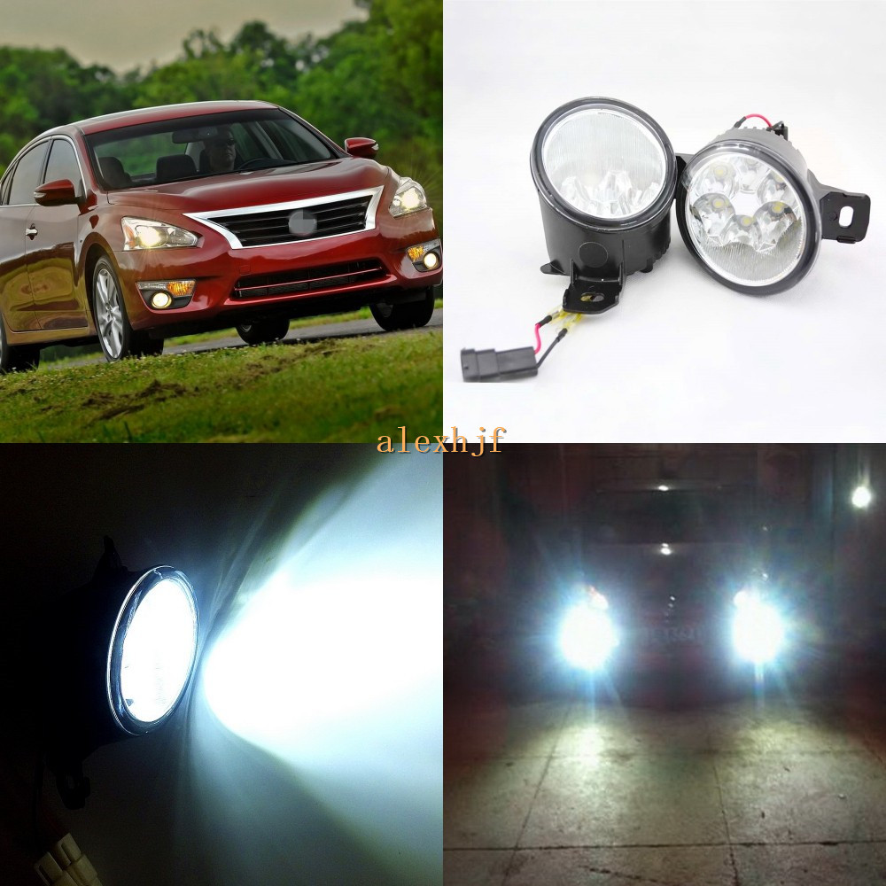 July King 18W 6LEDs H11 LED Fog Lamp Assembly Case for Nissan Teana Altima 2007~ON,  6500K 1260LM LED Daytime Running Lights july king 18w 6leds h11 led fog lamp assembly case for nissan versa 2012 on 6500k 1260lm led daytime running lights