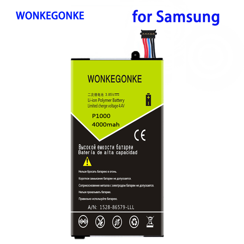 WONKEGONKE 4000mah SP4960C3A For Samsung <font><b>Galaxy</b></font> <font><b>Tab</b></font> <font><b>P1000</b></font> P1010 <font><b>GT</b></font>-<font><b>P1000</b></font> Tablet Battery Batteries image