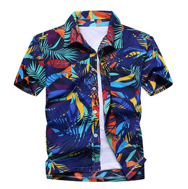 Men s Summer Hawaiian Shirts Single Breasted Light Beach Shirts Short  Sleeve Breathable Plus Size XS 5XL Hawaii Shirts-in Casual Shirts from Men s  Clothing ... c9b3cd4c24df