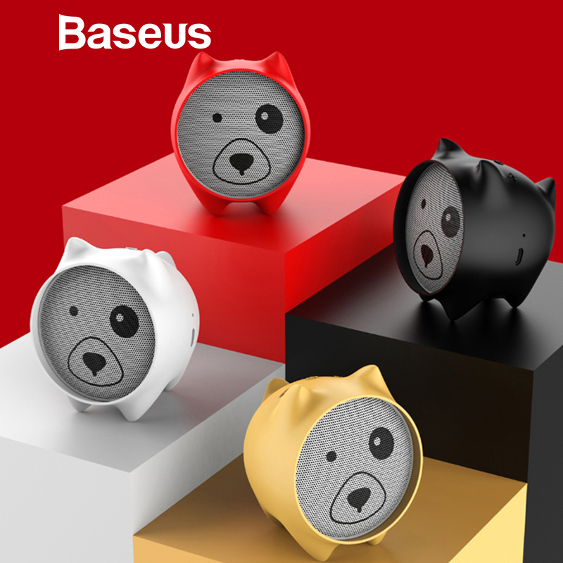 Baseus E06 Dogz Bluetooth Speaker Portable Mini Bluetooth Speaker Gift Speakers MP3 Music Player Stereo Sound Wireless Speaker getihu portable mini bluetooth speakers wireless hands free led speaker tf usb fm sound music for iphone x samsung mobile phone