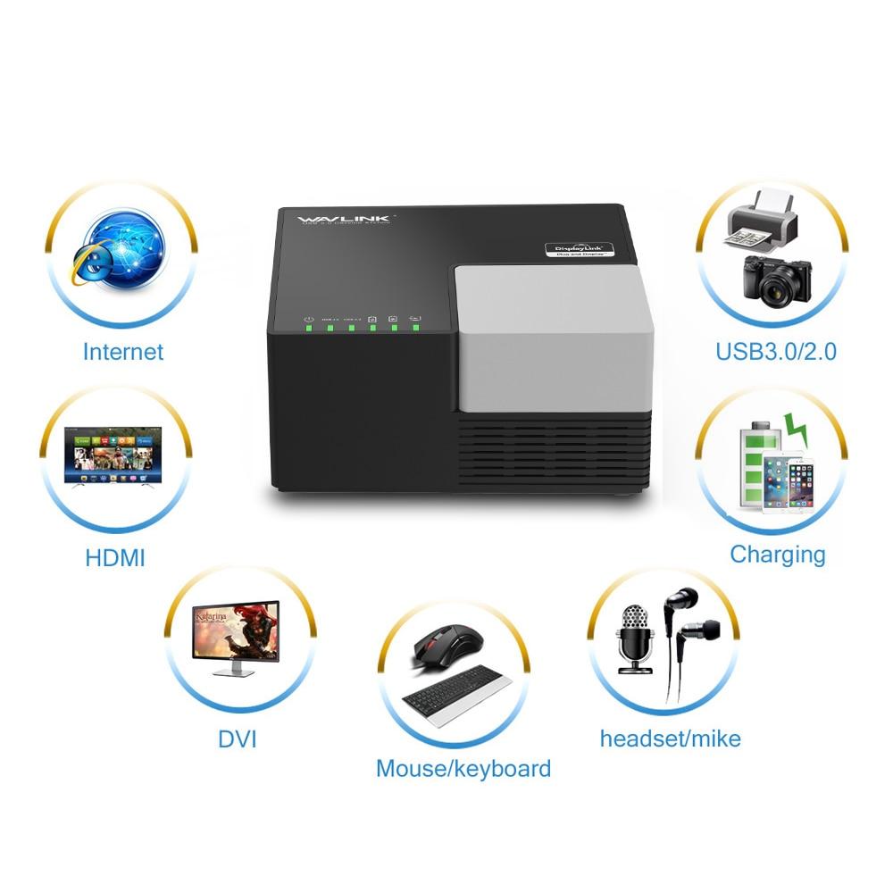 Wavlink 9 puertos Universal USB 3,0 estación de acoplamiento pantalla de vídeo Dual 4 GB DVI HDMI VGA a 1152*2048 Hub USB carga rápida Gigabit - 3