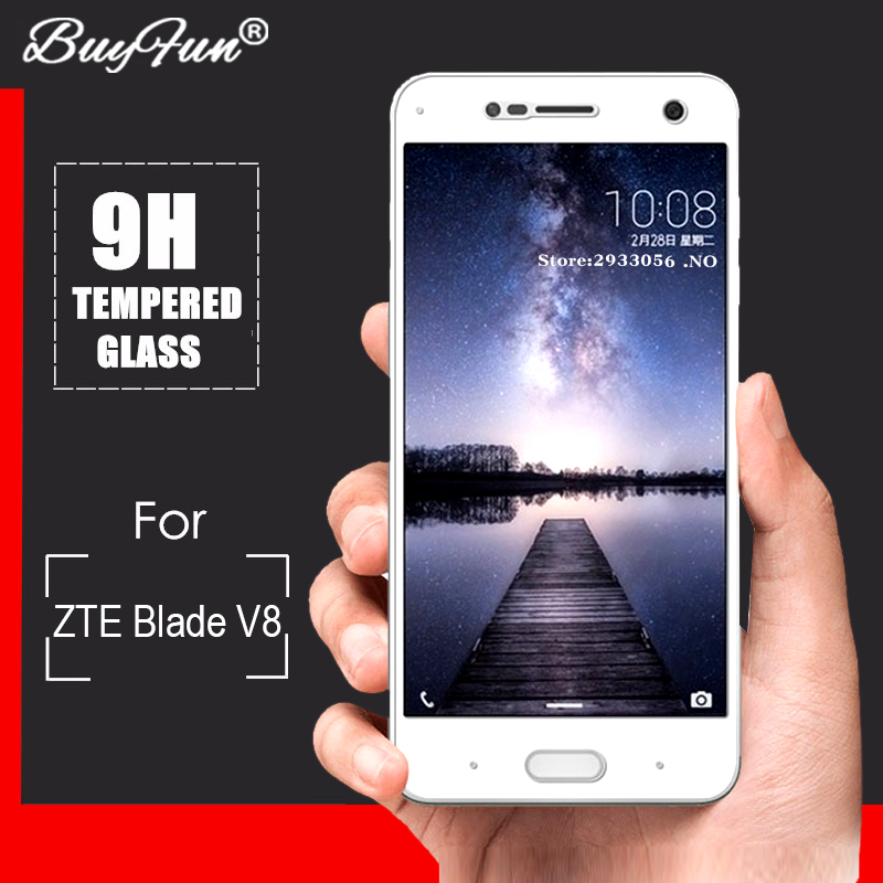 ZTE Blade V8 Tempered Glass For ZTE Blade V8 V 8 Phone 0.26mm 2.5D Full Cover Screen Protector Film Guard For ZTE Blade V8 Glass