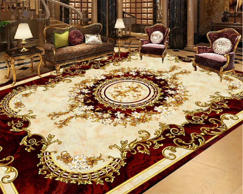 European style carpet non slip waterproof self adhesive font b bedroom b font 3D font b
