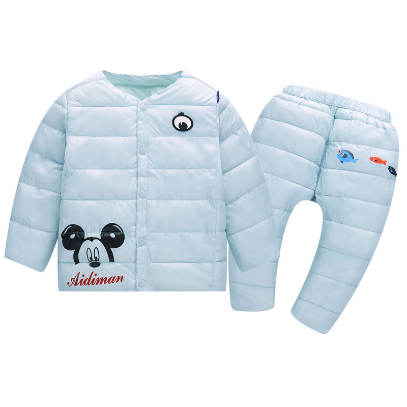 Children's Clothing Sets Cotton Winter Warm Boys  Girls  Clothes Sets Jacket & Pants Minnie Sping Autumn Home Tracksuit Parkas women winter coat leisure big yards hooded fur collar jacket thick warm cotton parkas new style female students overcoat ok238