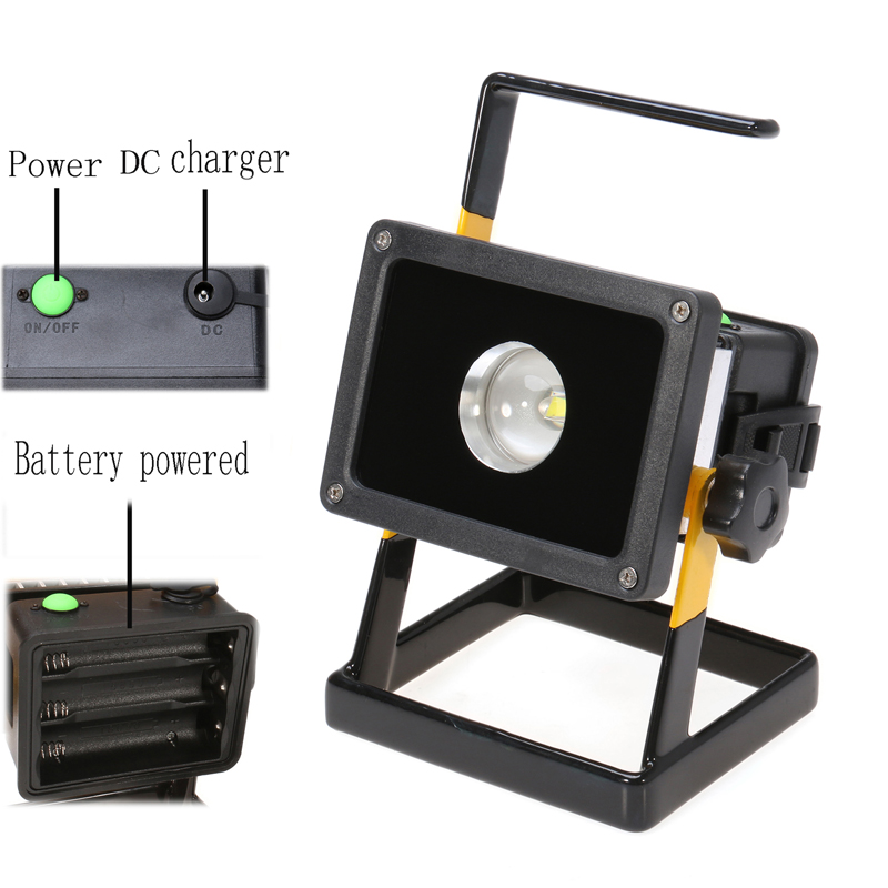 Portable 30w Rechargeable 18650 Battery Floodlight Ip65 Waterproof Outdoor Work Emergency Flood Light Led Spotlight 110v 220v In Floodlights From Lights