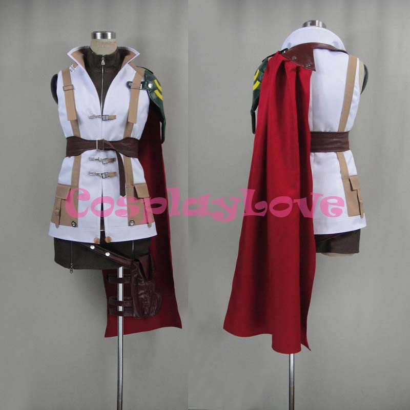 Newest Custom Made Japanese Anime Final Fantasy XIII 13 Lightning Cosplay Costume For Halloween Christmas Birthday