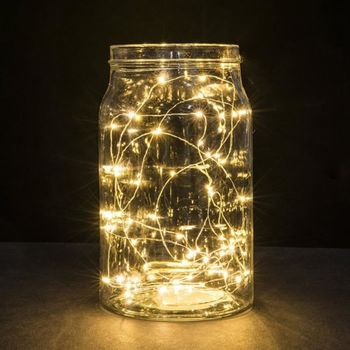 1 PC LED String Light Mini copper wire lights for Christmas Holiday Party Garden Bedroom Wedding Decoration Outdoor Indoor Lamp