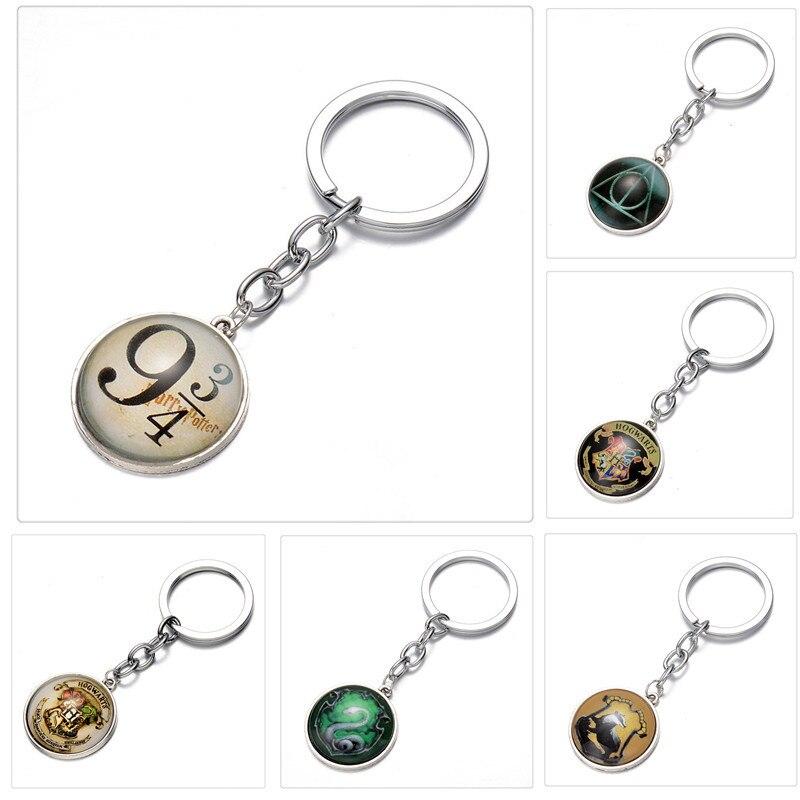 1 יחידות 2018 הגעה חדשה סרט Harri פוטר מפתח שרשרת סגסוגת אוצרות מוות מפתח טבעת פוטר דמות ילדים מתנה