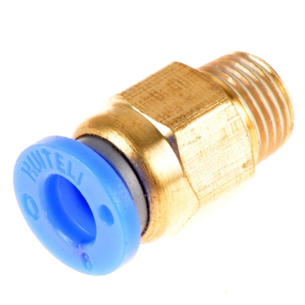 Mm thread inch air straight pneumatic tube fitting