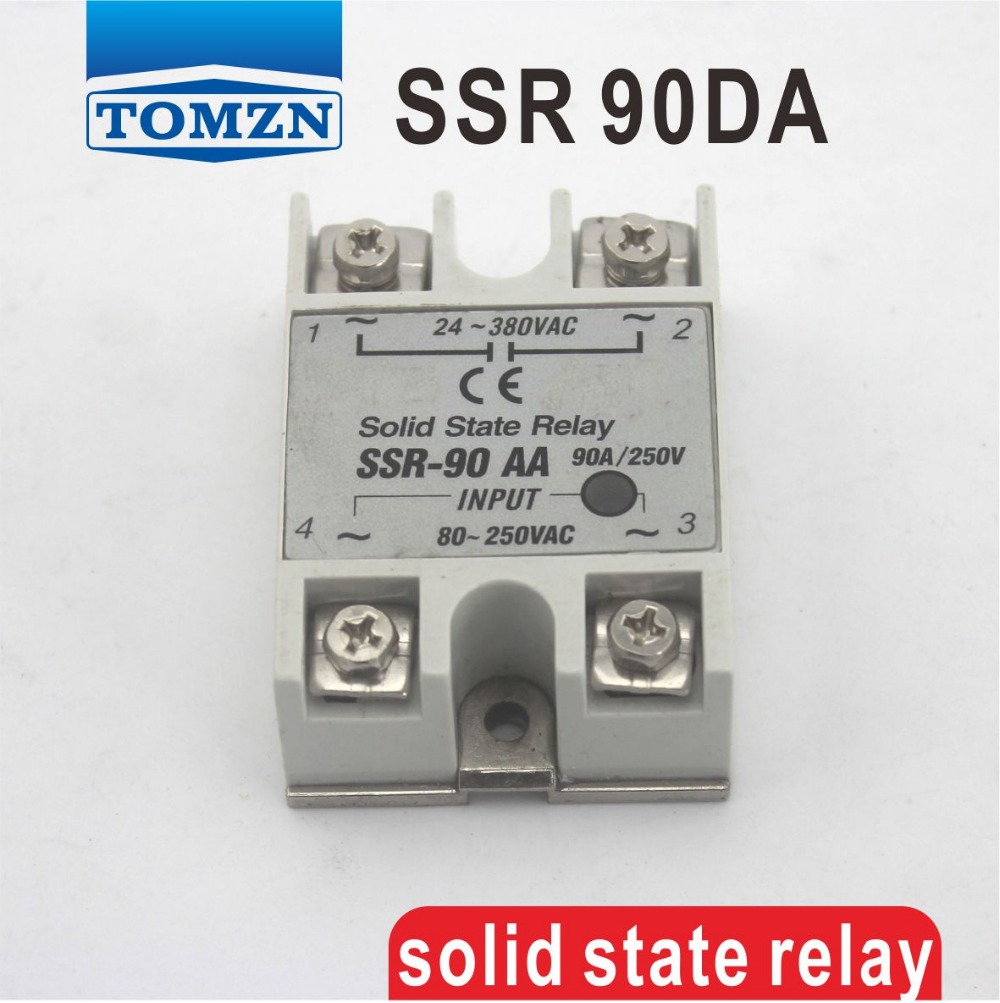 цена на 90DA SSR input 3-32V DC load 24-380V AC single phase AC solid state relay