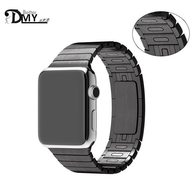 2017 высокое качество loop Link Браслет ремешок из нержавеющей стали Для Apple ремешок 1:1 оригинальный apple watch band 38 42 без Инструмента