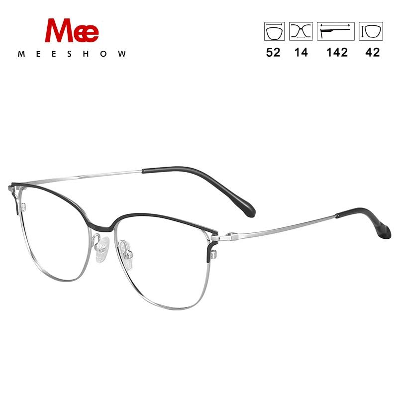 2019 Meeshow prescription lunettes titane alliage femmes lunettes oculos de grau feminino armacao lunettes vintage cadre nouveau - 2
