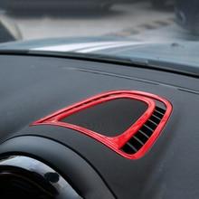 1set=2pcs Auto Center Console Panel Air Vent Outlet Cover Trim Interior car Sticker Decal For BMW MINI Cooper New Countryman F60