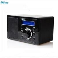 WI FI радио Интернет веб Радио 1 Вт RMS Поддержка MP3 формат WMA радио 2x16 матричный Дисплей Поддержка адаптер электрического питания черный