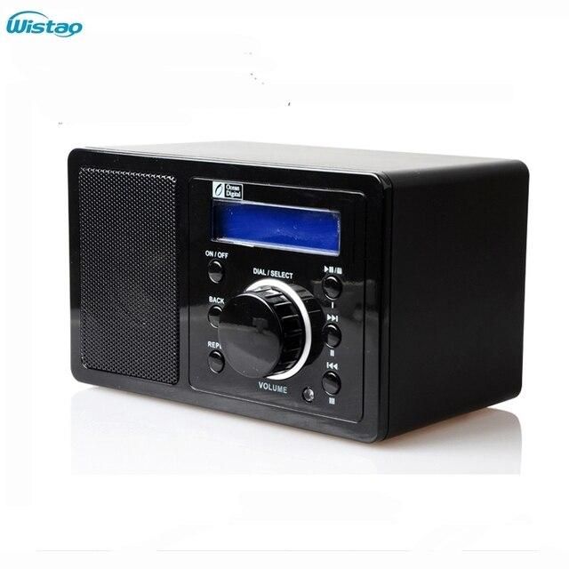 Wifi-радио интернет радио 1 Вт RMS поддержка MP3 , WMA формат радио 2 x 16 матричный дисплей поддержка адаптер источника питания черный