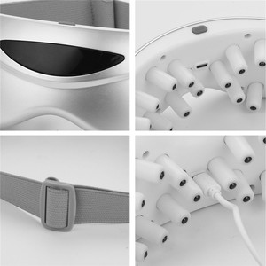 Image 5 - אינפרא אדום מחוות בקרת עיניים לעיסוי אלחוטי חשמלי עיניים לעיסוי מגנטי עיסוי רטט משקפיים עיני טיפול מכשיר P46