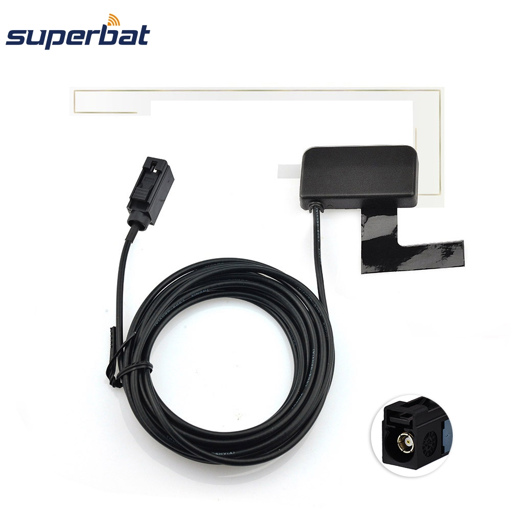 Superbat Autofenster Glashalterung DAB Digitales Autoradio Antenne Fakra Eine Buchse Jack Black Connector Straight