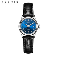 Parnis Royal Mechanical Watches Women Automatic Ladies Watch Sapphire Crystal Luxury Brand Top Japan Miyota Movement Wristwatch