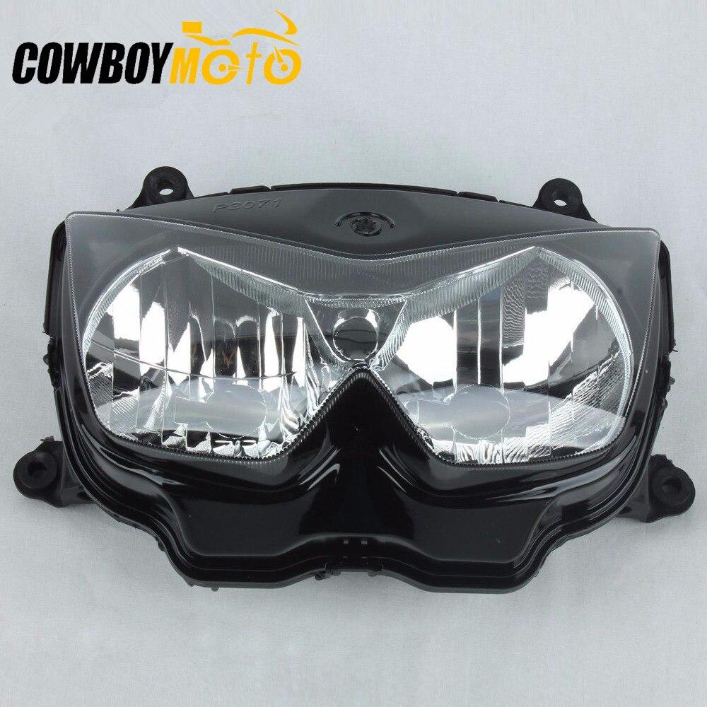 Kit de montage de phare de phare avant de moto pour Kawasaki Z1000 2003 2004 2005 2006 Ninja 250R 2008-2012