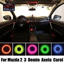 Новейшие DIY EL Провода Для Mazda 2 3 Mazda2 Демио/Mazda3 Axela/кэрол/Украшение Автомобиля Холодный Свет Лампы Атмосфера/9 М A набор