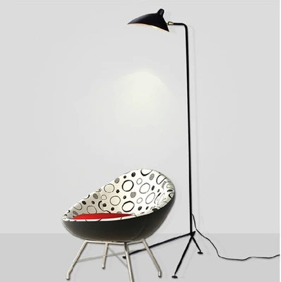 Loft Floor Lamp Black Metal Living Room Office Standing Light Italy Designers Iron Tirpod Floor Light