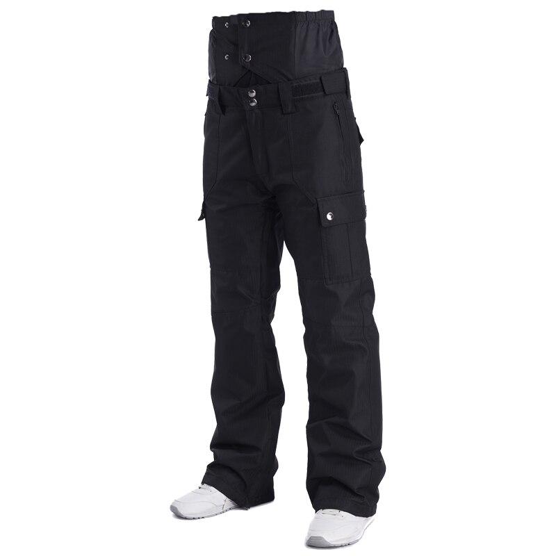 2018 Hiver Taille Haute Pantalon de Ski Hommes Coupe-Vent Imperméable Thermique Homme de Neige Pantalon Bib Jarretelles Mâle Snowboard Pantalon Vêtements de Ski - 4